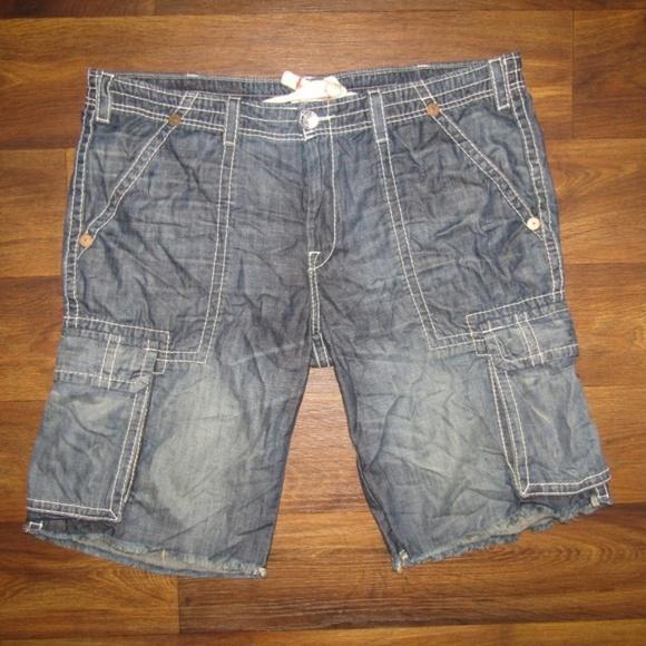 True Religion Other - Vintage True Religion Isaac Cargo Shorts Size 42